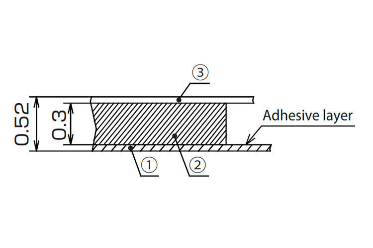 Dimensions: Flexible Ferrite Sheet FFS Series