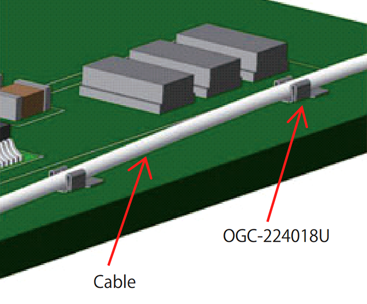 Designed to manage thin cables on the PC board
