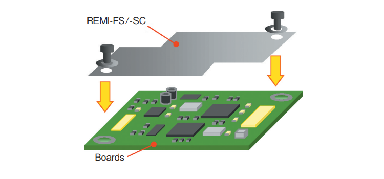 Shielding small boards with surface conductive metal film