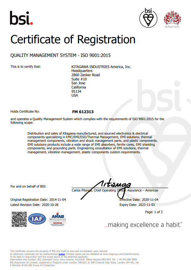 Quality Management System – ISO 9001:2015
